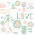 kid seamless pattern it is located in swatch menu vector image