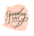 Lettering Groundhog Day vector image
