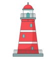 lighthouse icon isolated at white navigation vector image