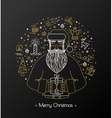 luxury black card with greetings for new year vector image vector image