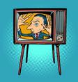 man inside tv vector image vector image