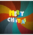 Merry Christmas Paper Title on Retro Background vector image vector image