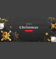 merry christmas sale shop now black gift box vector image vector image
