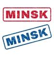 Minsk Rubber Stamps vector image vector image