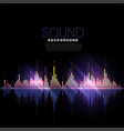 music track audio pattern sound background vector image
