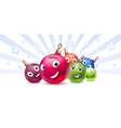 New Years balls Cartoon characters vector image vector image