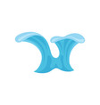 ocean or sea wave water splashes design element vector image vector image