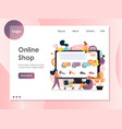 online shop website landing page design vector image vector image