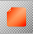 orange square peel off paper sticker vector image