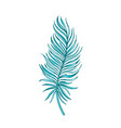 palm tropical leaf hand drawn sketch exotic vector image vector image