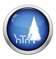 Park seat and pine tree icon vector image vector image