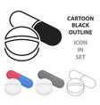 pill icon cartoon single medicine icon from the vector image vector image