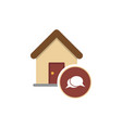 real estate message house in bubble simple icon vector image vector image