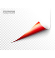 realistic curled corner vector image