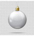 realistic transparent christmas ball vector image vector image