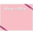 rose and polka dots birthday framework with happy vector image