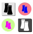 salt and pepper flat icon vector image vector image