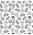 seamless pattern with fast food objects vector image vector image