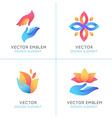set gradient logo design elements vector image vector image