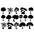 set isolated tree vector image vector image