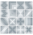 Set of abstract gray and black rectangle shapes vector image vector image