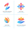 set of gradient logo design elements vector image vector image