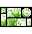 Set of grass banners vector image