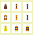 set of label icon on design sticker collection vector image vector image