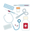 Set of medical icon vector image