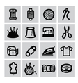sewing equipment icon vector image vector image