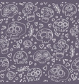 skulls seamless pattern day dead vector image vector image