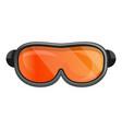 snowboard goggle icon cartoon style vector image
