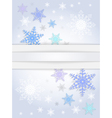 Snowflake background with banner vector image vector image