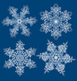 snowflakes set graphic snowflakes vector image