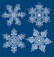 snowflakes set graphic vector image