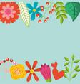 spring flowers natural season pattern vector image vector image