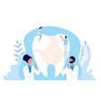 stomatology concept dentist cleaning teeth vector image vector image