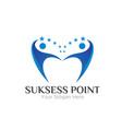 success power business logo designs vector image vector image