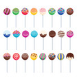 sweet candy lollipops vector image vector image