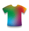 t-shirt sign colorful icon with bright vector image vector image