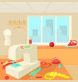 tailor room concept cartoon style vector image