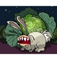 The enraged rabbit guards cabbage vector image
