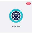 two color weight drive icon from gym and fitness vector image vector image