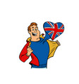 uk patriot man isolated on white background vector image vector image