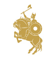 viking on horse vector image