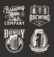 vintage beer logotypes vector image vector image