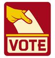 vote symbol vector image