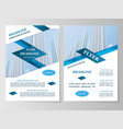 business brochure flyer design vector image