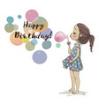 cute girl with bubbles vector image