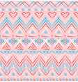 Pink tribal ethnic seamless pattern vector image
